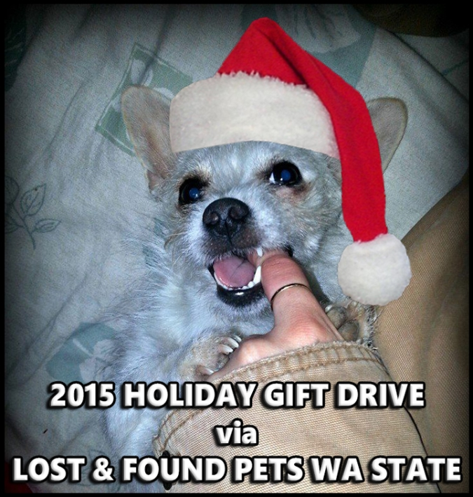 Holiday Gift Drive Lost Found Pets Wa State